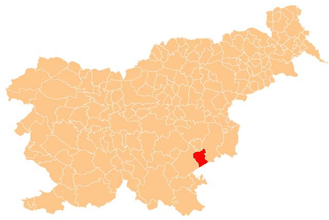 Šentjernej - karta