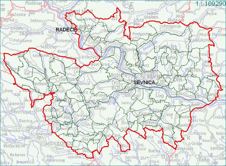 Sevnica - zemljevid