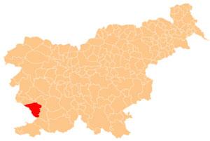 Sežana - karta