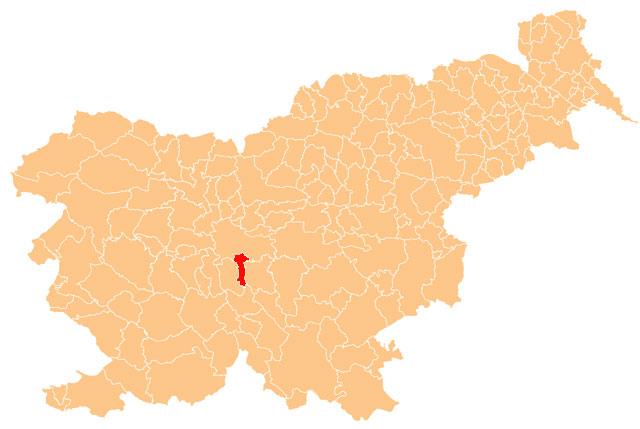 Škofljica - karta