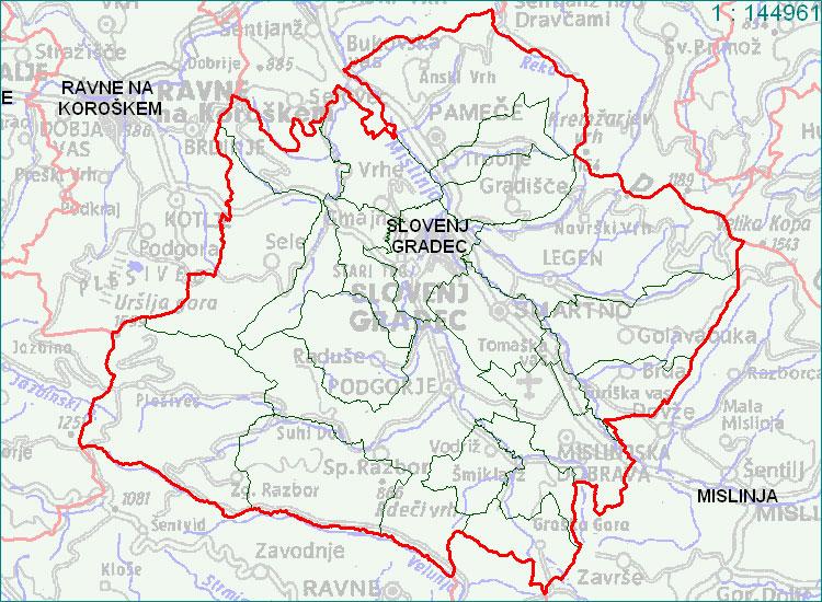 Slovenj Gradec - zemljevid