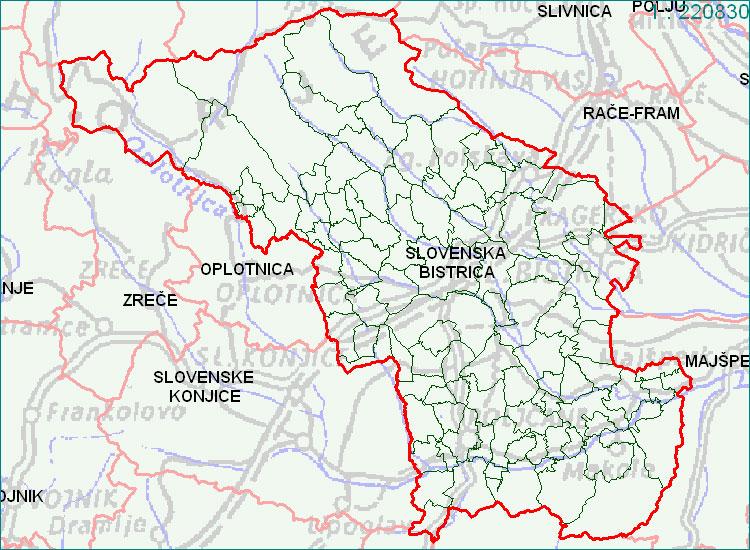 Slovenska Bistrica - zemljevid