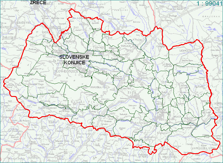 Slovenske Konjice - zemljevid