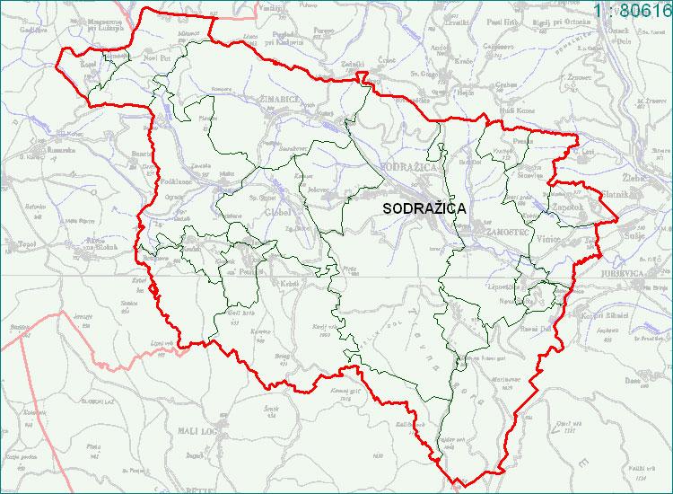 Sodražica - zemljevid