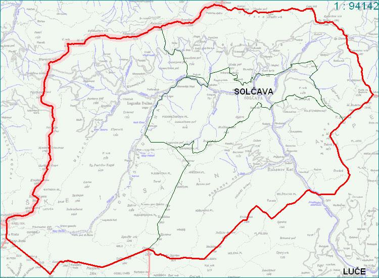 Solčava - zemljevid