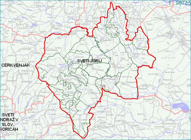 Sveti Jurij ob Ščavnici - zemljevid