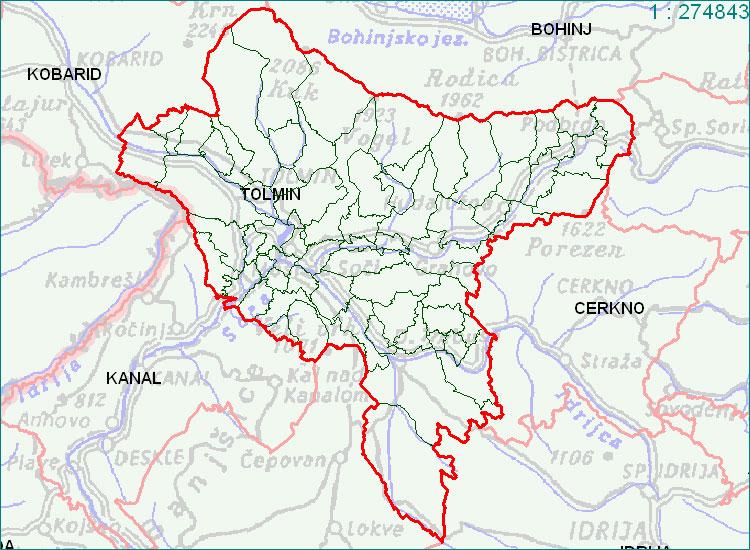 Tolmin - zemljevid