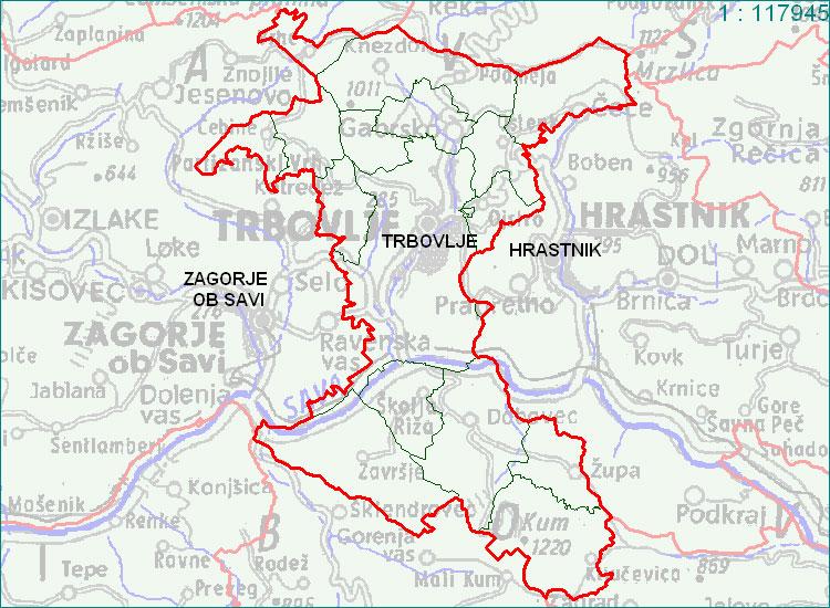 Trbovlje - zemljevid