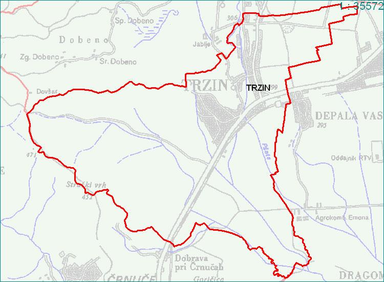 Trzin - zemljevid