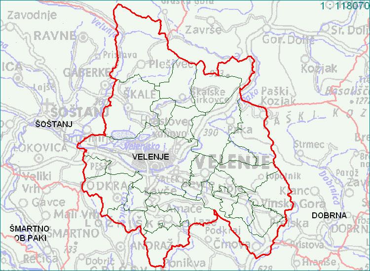 Velenje - zemljevid