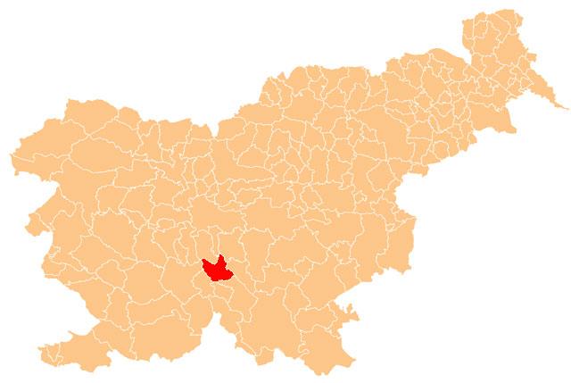 Velike Lašče - karta