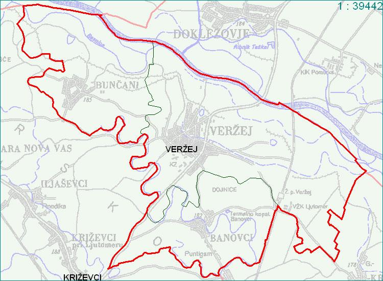 Veržej - zemljevid