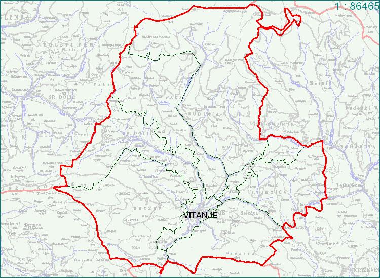 Vitanje - zemljevid