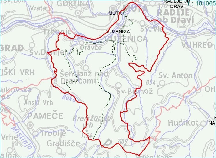 Vuzenica - zemljevid