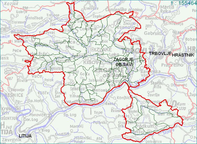 Zagorje ob Savi - zemljevid