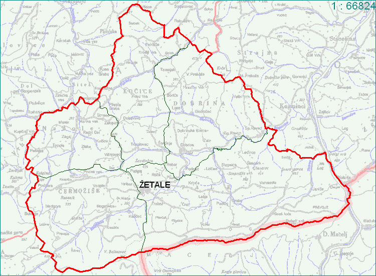 Žetale - zemljevid