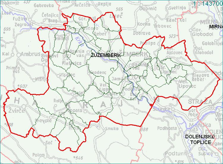 Žužemberk - zemljevid