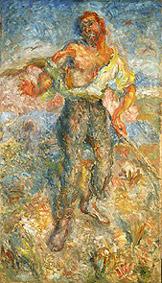 Rihard Jakopič, slepec, 1926
