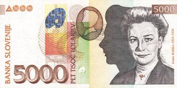 Ivana Kobilca na bankovcu