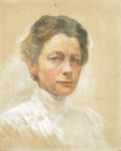 Ivana Kobilca - avtoportret