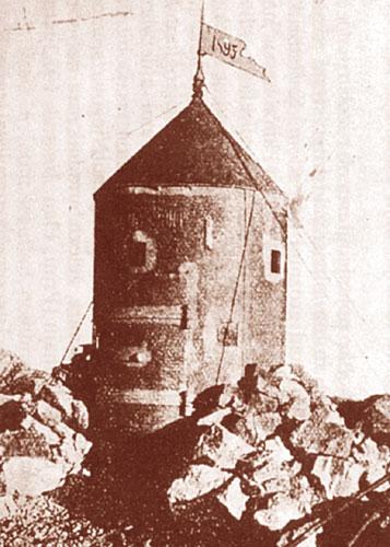 Takšen je bil Aljažev stolp prva leta po postavitvi