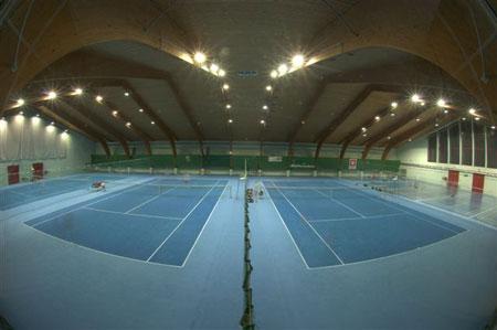 Pogled na športno dvorano.