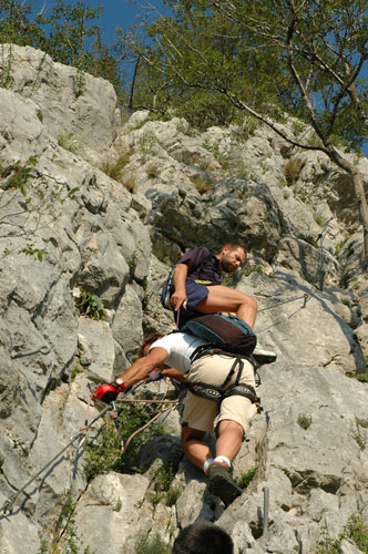 Zahtevna plezalna pot na Gradiško Turo
