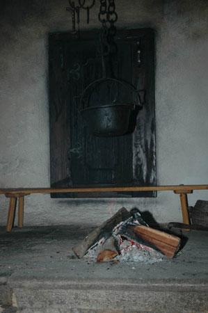 Ognjišče v Šobčevi domačiji