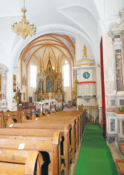 Notranjost stolne cerkve