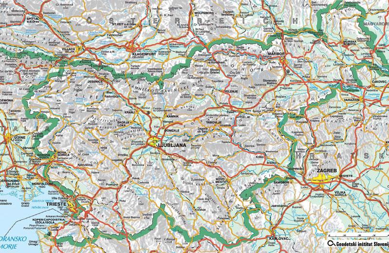 zemljevid slovenije