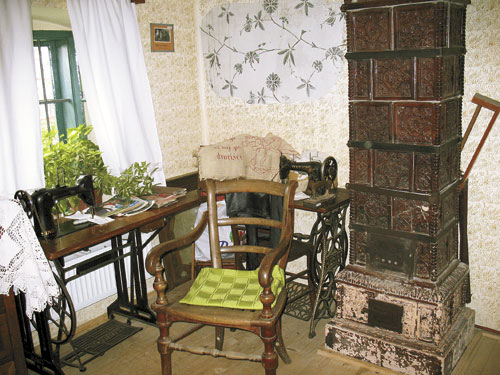 Cimer z lončeno pečjo in fresko