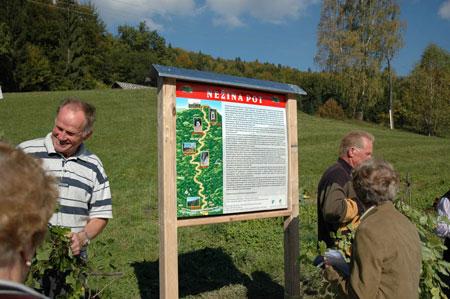 Začetek poti v dolini Sopote