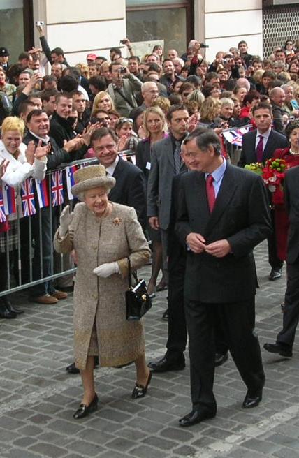 Britanska kraljica Elizabeta II. in predsednik Danilo Turk