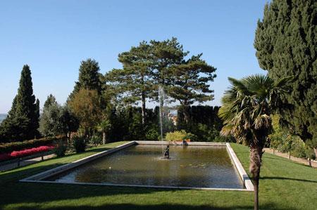 Lotosovo jezerce z vodometom