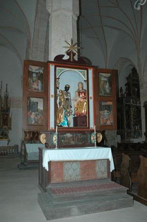Oltar Sv. treh kraljev z božičnim in velikonočnim motivom iz leta 1623