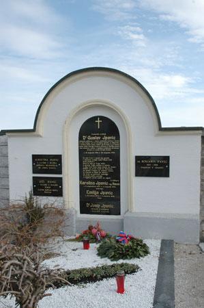 Nagrobnik Gustavu Ipavcu z verzi Antona Aškerca