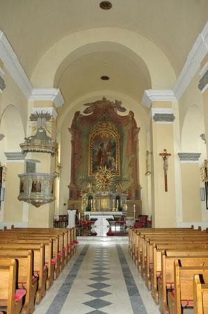 Notranjost ž. c. Sv. Jurija v Šentjurju