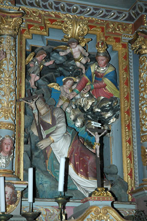 Kip sv. Rozalije v glavnem oltarju p. c. Sv. Rozalije