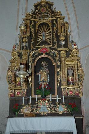 Oltar v cerkvi Sv. Jakoba iz 17. stoletja