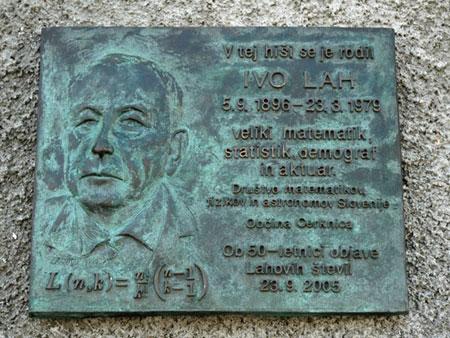 Spominska plošča Ivu Lahu, rojenemu v Štrukljevi vasi